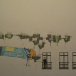 Flying Machine - Side Sketch Elevation with Backdrop
